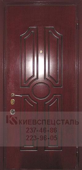 купить входную дверь с отделкой из шпона